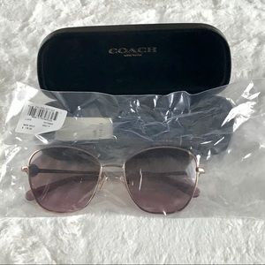 Coach Gia Crystal Butterfly Rose Gold Sunglasses